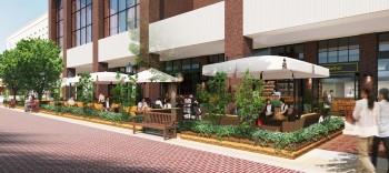 オープンカフェ、レストランCG