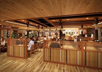 飲食店の建築パース