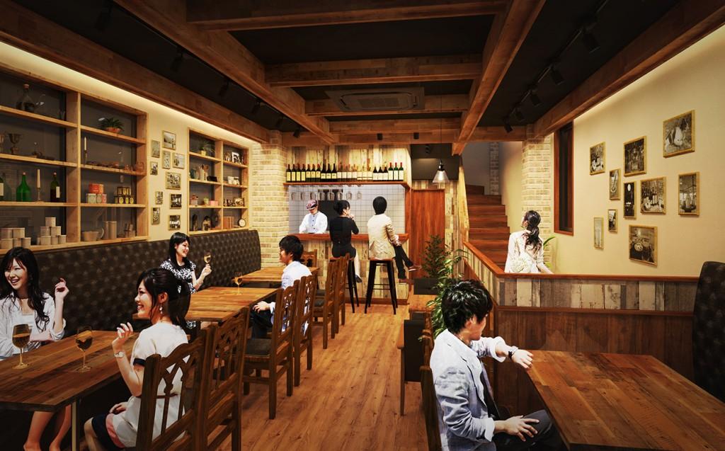 レストラン内観パース