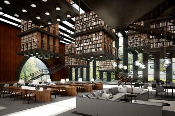 図書館の建築パース