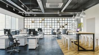 オフィススペースの建築パース